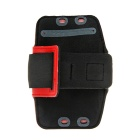 Protective Neoprene Sport Armband for Samsung Galaxy Note 3 N9000 - Red + Black + Silver Grey