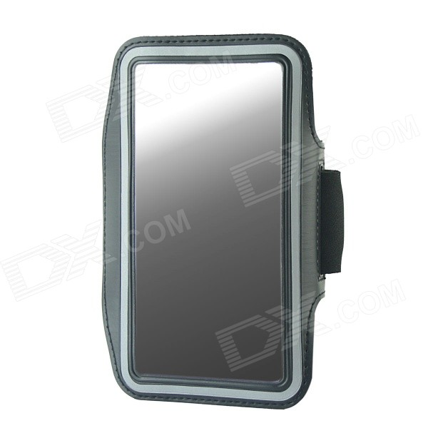 Protective Neoprene Sport Armband for Samsung Galaxy Note 3 N9000 - Black + Silver Grey