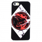 Bloody Dragon Pattern Protective Plastic Back Case for iPhone 5 - Black + White + Red