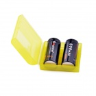 Soshine RCR123 3.0V 600mAh LiFePO4 Rechargeable Batteries w/ Case - Black (2 PCS)