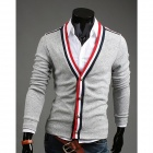 REVERIE UOMO 14-wy31 Fashionable Personality Cardigan for Men - Grey (Size-XL)