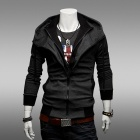 WY22 Fashionable Men's Slim Fit Jacket - Deep Grey (Size-L)