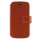 DOOGEE Protective PU Leather Flip Open Case Cover for Collo DG100 - Brown
