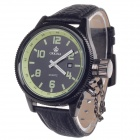 ORKINA W007 Stylish Men's Quartz Analog Wrist Watch w/ Simple Calendar - Black (1 x LR626)
