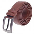 Fashionable Cow Split Leather Men's Waist Belt w/ Zinc Alloy Buckle - Brown (110~125cm)