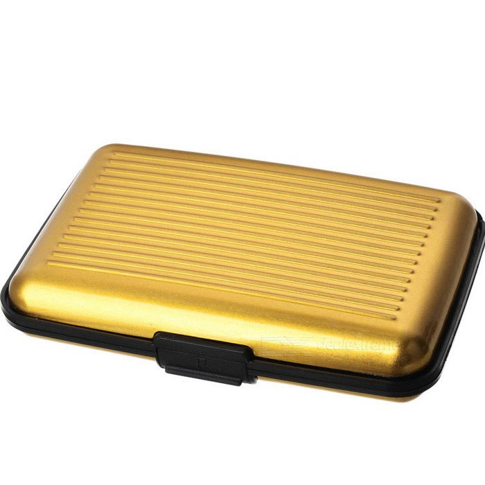 10050129M Aluminum Alloy Bankcard Wallet Card Holder Case - Golden
