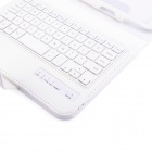 V3.0 Bluetooth 59-Key Keyboard w / caja de cuero para Samsung Galaxy Wireless T310 / T311 - Blanco