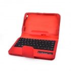 Bluetooth V3.0 59-Key Wireless Keyboard w/ PU Leather Case for Samsung Galaxy Tab T310 / T311 - Red