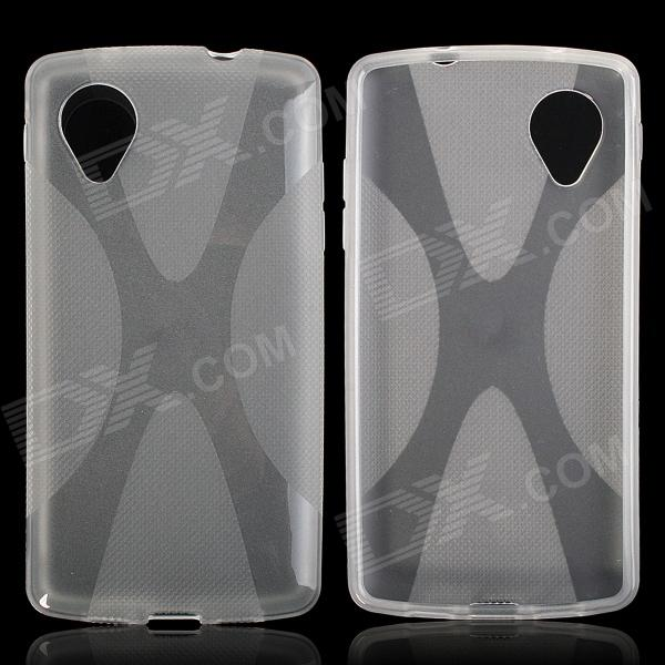 X Style Protective TPU Back Case for LG Nexus 5 - Translucent White protective silicone back case for lg nexus 5 translucent white