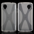 """X"" Style Protective TPU Back Case for LG Nexus 5 - Translucent White"