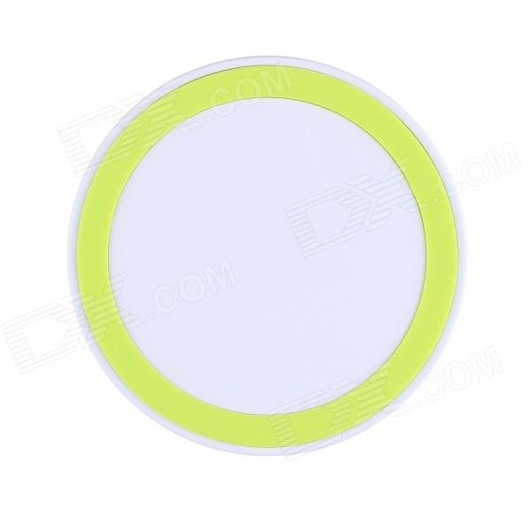 T200 Mini Universal QI Standard Wireless Charger for Samsung Galaxy Note 2 N7100 / S4 i9500 - Yellow