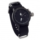 ORKINA W010 Fashionable Men's Quartz Wrist Watch w/ Simple Calendar - Black + White (1 x LR626)