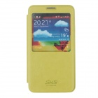 SHS Protective PU Leather Case Cover w/ Visual Window for Samsung Galaxy Note 3 N9000 - Green