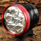ZHISHUNJIA SL 6 x Cree XM-L T6 1600lm 3-Mode White Bicycle Light w/ Tail Signal Light (6 x 18650)