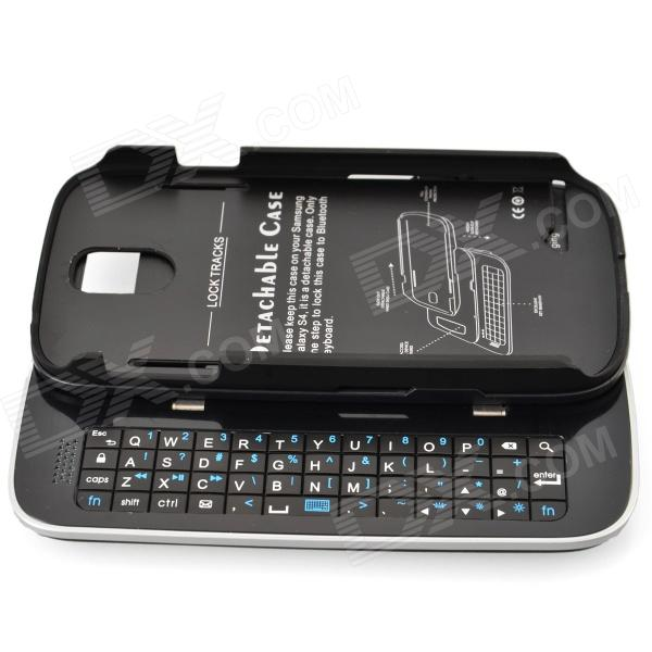 Detachable Bluetooth V3.0 + HS Slide-out 51-Key Keyboard Case for Samsung Galaxy S4 / i9500 - Black гарнитура a4tech hs 7p