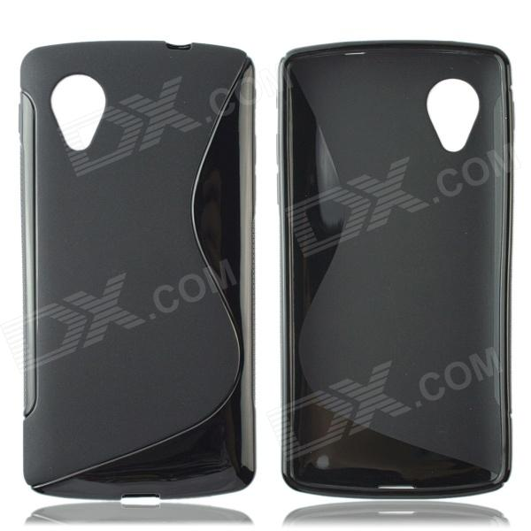 S Style Protective TPU Back Case for LG Nexus 5 - Black protective tpu back case for lg nexus 5 black