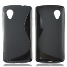 """S"" Style Protective TPU Back Case for LG Nexus 5 - Black"