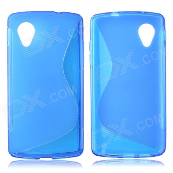 S Style Protective TPU Back Case for LG Nexus 5 - Blue