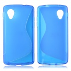 """S"" Style Protective TPU Back Case for LG Nexus 5 - Blue"