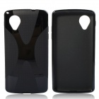 """X"" Style Protective TPU Back Case for LG Nexus 5 - Black"
