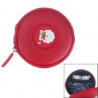 G-COVER Santa Claus Pattern Headset / Memory Card / Cable Storage Bag - Red