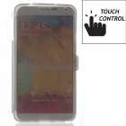 Touch Control Protective TPU Back Case Cover for Samsung Galaxy Note 3 N9000 - Translucent Grey