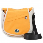 Caseman Convenient Oxford Fabric Single Shoulder DSLR Camera Bag / Satchel - Orange + White