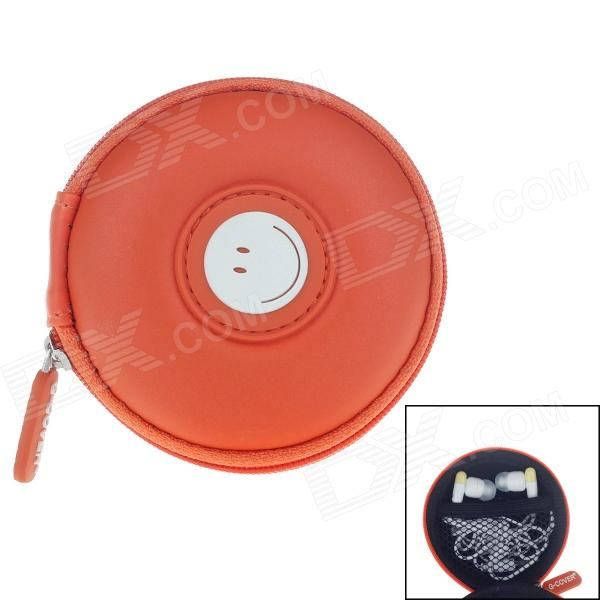 G-COVER Smiling Face Headset / Memory card / Cable Storage Bag - Orange