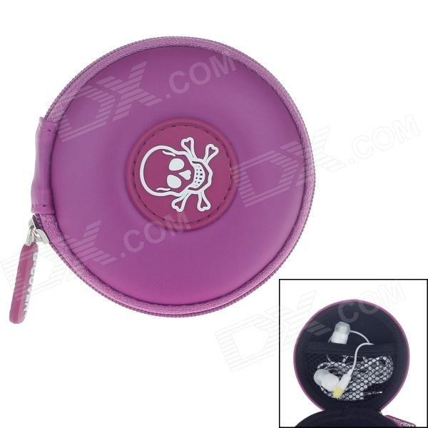G-COVER Skull Style Headset / Memory card / Cable Storage Bag - Purple