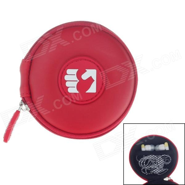 G-COVER Heart in The Hand Style Headset / Memory card / Cable Storage Bag - Red