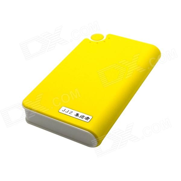 JJZ 6500mAh Mobile External Power Source Battery Charger for Iphone / Samsung + More - Yellow kiwibird kp16800 16800mah mobile power battery charger w led for iphone samsung more white