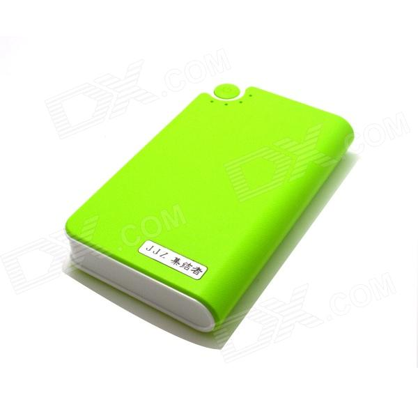 JJZ 6500mAh Mobile External Power Source Battery Charger for Iphone / Samsung + More - Green kiwibird kp16800 16800mah mobile power battery charger w led for iphone samsung more white