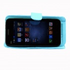 "PZCD PZ-61 Universal Protective PU Leather Case Cover with Stand for 4.3~4.8"" Cell Phone - Blue"