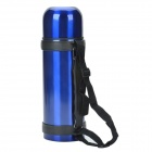 Outdoor Travel Stainless Steel Dual-Layer Vacuum Bottle - Blue (1100mL)