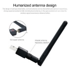 USB 2.0 2.4GHz 802.11b/g/n 150Mbps Wi-Fi / WLAN Wireless Network Adapter - Black