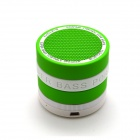 ZY-401 Portable Super Bass Bluetooth V2.1 + EDR Speaker w/ TF / FM / Microphone - White + Green