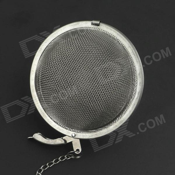 Stainless steel round shaped tea strainer filter silver