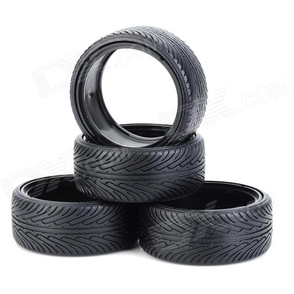 5007 1:10 Scale Tires for Drift Car - Black (4 PCS) 1 10 rubber on road racing car model replacement tire black 4 pcs