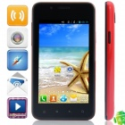 "820(820S) BCM21663 Dual-Core Android 4.2.2 WCDMA Bar Phone w/ 4.0"", FM, Wi-Fi, GPS - Black + Red"