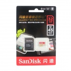 Sandisk Extreme MicroSDXC TF UHS-I Card w/ TF Card to SD Card Adapter - Golden + Red (32GB)