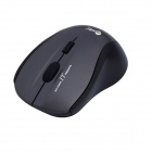Jeway JM-7007 USB 2.4GHz 800/1200/1400/1600DPI 4D Gaming Wireless Optical Mouse - Black + Gray