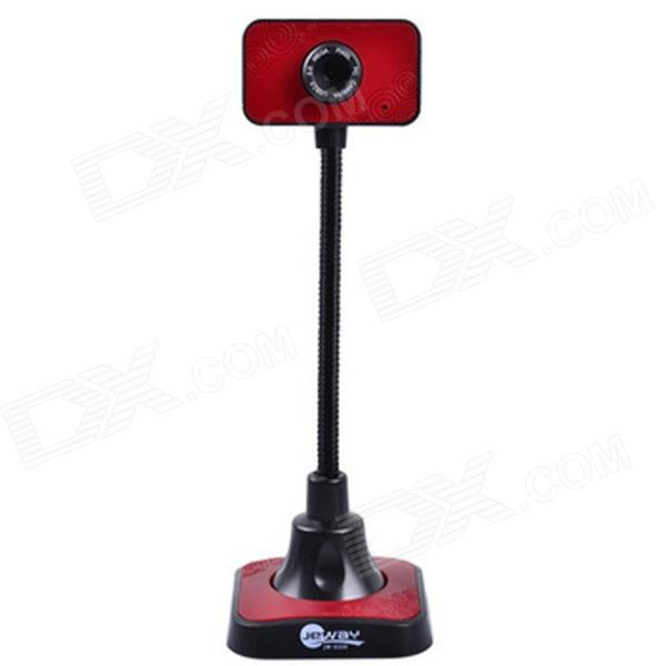 Jeway JW-5329 High Foot 1080P HD 2.0 MP USB Computer Webcam - Red + Black (130cm-Cable)