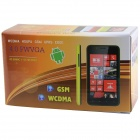 "820(820S) BCM21663 Dual-Core Android 4.2.2 WCDMA Bar Puhelin w / 4.0"", FM, Wi-Fi, GPS - musta + keltainen"