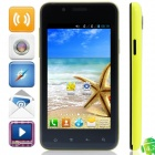 "820(820S) BCM21663 Dual-Core Android 4.2.2 WCDMA Bar Phone w/ 4.0"", FM, Wi-Fi, GPS - Black + Yellow"