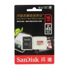 Sandisk Extreme MicroSDXC TF UHS-I Card w/ TF Card to SD Card Adapter - Golden + Red (16GB)