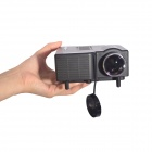 Geekwire LP-1 Portable FHD 1080P LED Projector w/ HDMI, VGA, USB 2.0, AV, SD, EU Plug - Black