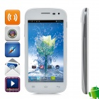 "Yusun W91 MTK6577 Dual-Core Android 4.0.4 WCDMA Bar Phone w / 4.5 "", FM, GPS, Bluetooth - Weiß"
