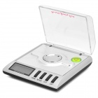 "CPTCAM 20G 1.4"" LED Precision Digital Jewelry Scale - White + Silver (2 x AAA / 20g / 0.001g)"