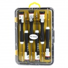 6-in-1 Disassemble Tool Kit for Iphone / Nokia / Samsung - Black + White