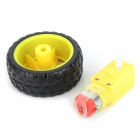 TT-02 DIY Car Model TT Motor Encoder w / Roda - preto + Amarelo